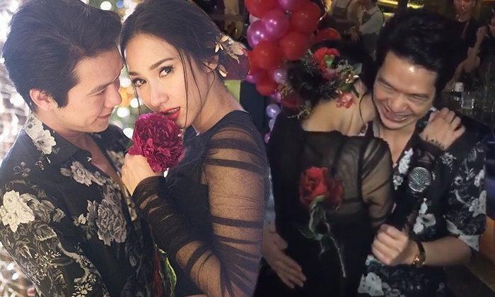 ปาร์ตี้วันเกิด อั้ม พัชราภา ดอกไม้สะพรั่ง โชว์ซีนหวาน แอมป์