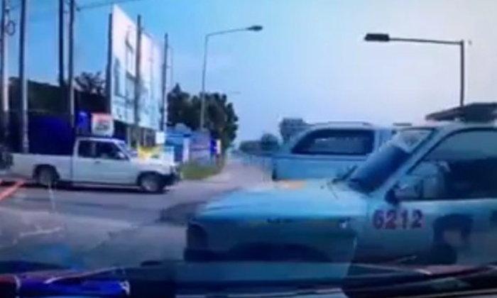 โซเชียลรุมด่า! สาวเกือบขับชนรถมูลนิธิ โพสต์คลิปโวยทั้งที่ตัวเองผิด
