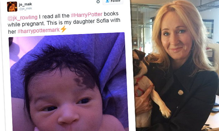 """แม่อุ้มท้องอ่าน แฮรี่ พ็อตเตอร์ ลูกคลอดมี """"สายฟ้า"""" ที่หน้าผาก"""