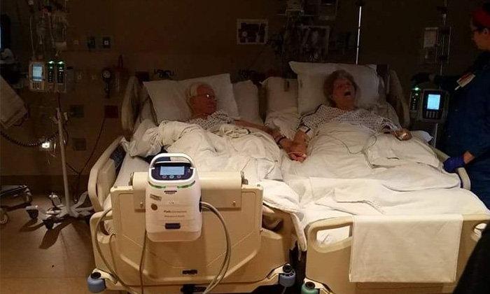 เศร้าซึ้ง.. ปู่ย่าครองรัก 63 ปี จับมือกันวินาทีใกล้สิ้นใจ
