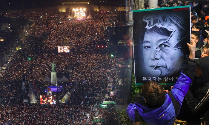 ชาวเกาหลีใต้ชุมนุมใหญ่ครั้งที่ 5 จี้ประธานาธิบดีหญิงลาออก