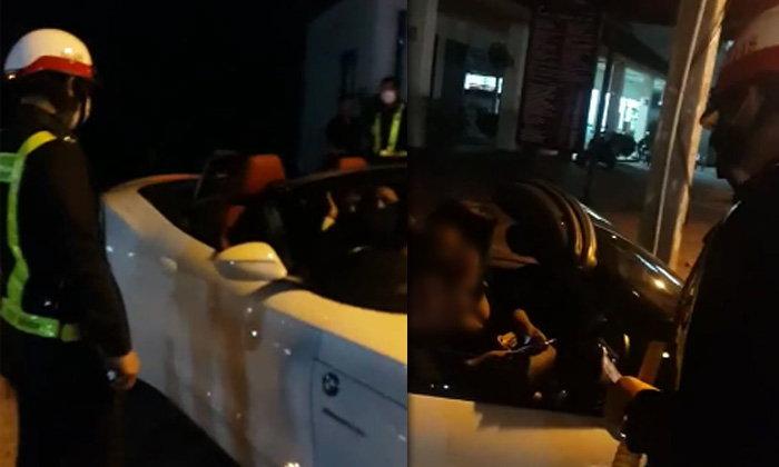 """สาวรถหรูเซ็งตำรวจโบก โวยดังลั่น """"เบื่อมากประเทศไทย"""""""