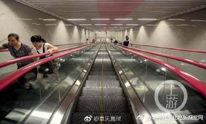 สถานีรถไฟใต้ดินลึกสุดในจีน 60 เมตร ลงบันไดเลื่อนกว่า 3 นาที