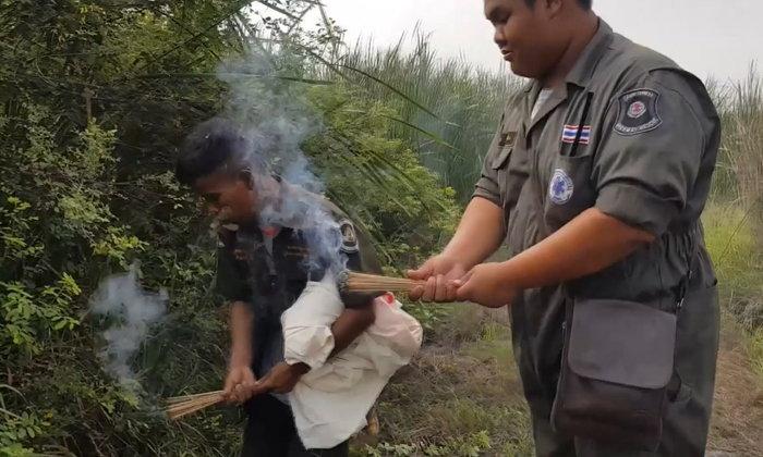 หนุ่มบีบคอฆ่าสาวหม้าย ทิ้งศพหมกป่าธูป 5 วัน โทรสารภาพกับพระ