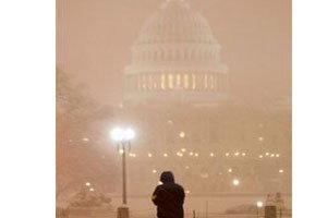 พายุหิมะพัดถล่มเมืองหลวงสหรัฐ