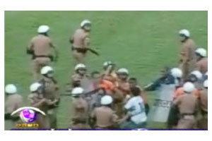 แฟนบอลก่อจลาจลหลังเกม กอริติบา เสมอ ฟลูมิเนนเซ