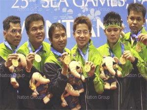ตะกร้อลอดห่วงคว้าทองแรกให้ไทยเวียงจันทน์เกมส์