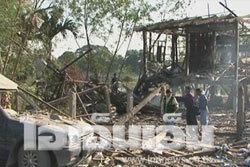 บ้านทำพลุระเบิดเสียชีวิต 3 ชิ้นส่วนกระเด็น