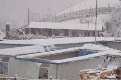 หิมะตกหนักในรัฐคะฉิ่น ประเทศพม่า