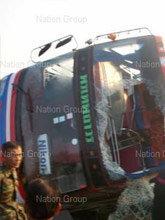 รถบัสพนักงาน บ.นิคอน อุบัติเหตุดับ1เจ็บระนาว