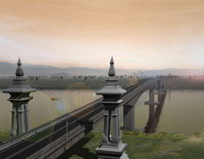 พระเทพฯเสด็จลาวเปิดศูนย์ศก.พอเพียง-สะพานข้ามโขง3
