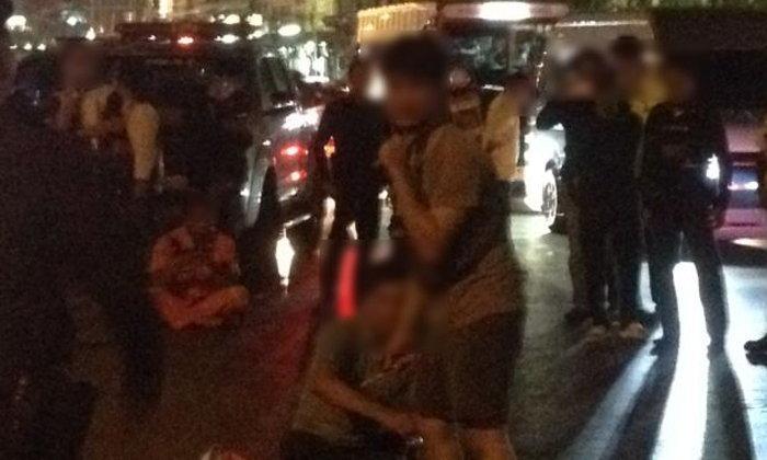 หนุ่มคลั่งใช้มีดจี้คอตัวเอง ย่านพระราม 2 ตำรวจปิดถนนกล่อม