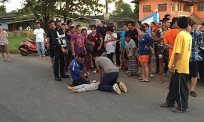เด็ก 7 ขวบวิ่งพรวดข้ามถนน กระบะพุ่งชนไม่ทันได้เหยียบเบรก