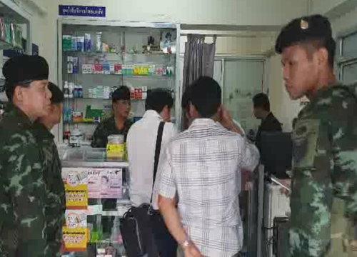 อย.-ทหารบุกรวบร้านยาราม24จำหน่ายทรามาดอลผิดกม.
