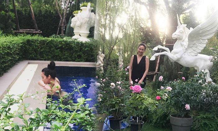 อั้ม พัชราภา ลงมือจัดสวนสวยหน้าบ้านต้อนรับเพื่อน