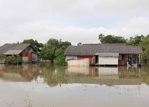 หมู่บ้านริมทะเลสาบสงขลาฝั่งพัทลุงจม150ม.