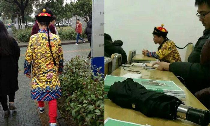 หนุ่มนศ.เมืองจีนสุดชิลล์ แต่งชุดจักรพรรดิจีนไปเรียนทุกวัน