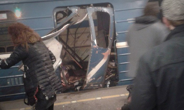 ระเบิดรถไฟใต้ดิน เมืองเซ็นต์ปีเตอร์สเบิร์ก 9 ศพ ยอดเสียชีวิตยังพุ่ง