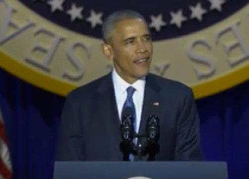 โอบามาขึ้นเวทีประกาศอำลาตำแหน่งผู้นำสหรัฐฯ