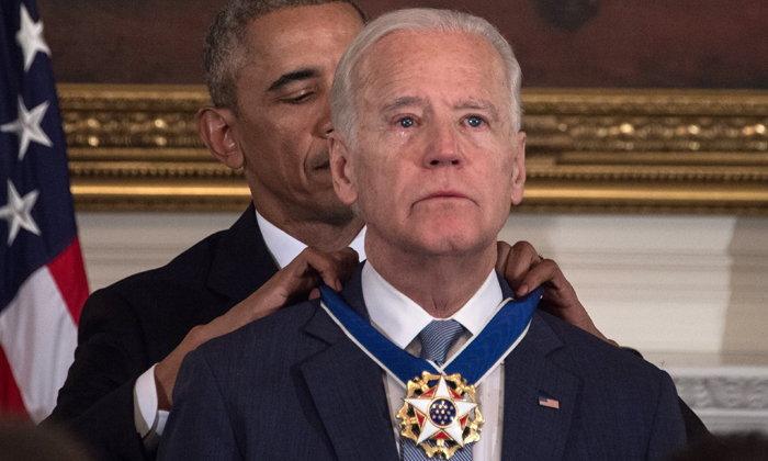 'โอบามา' มอบเหรียญเกียรติยศสูงสุดให้ รอง ปธน.สหรัฐ ก่อนพ้นตำแหน่ง