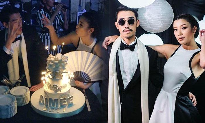 ปาร์ตี้วันเกิด เอมมี่ มรกต ไฮโซคิด ธีมจีนขาวดำ