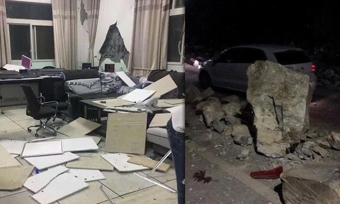 แผ่นดินไหว 6.5 มณฑลเสฉวน ล่าสุดดับแล้ว 13 ศพ เจ็บอีก 175