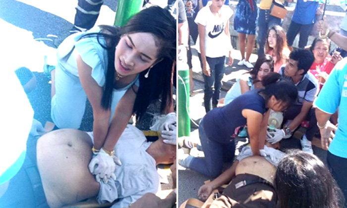 ชื่นชม ! พยาบาลผ่านมาพบเหตุรีบช่วยหนุ่มใหญ่ถูกรถชนสาหัส แม้สุดท้ายสุดยื้อ