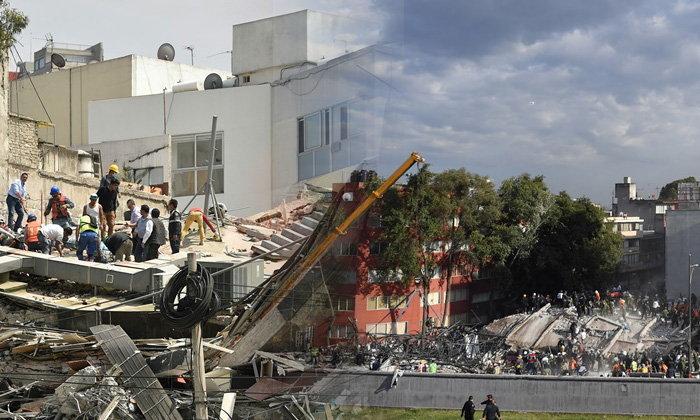 ประมวลภาพพังพินาศ หลังแผ่นดินไหว 7.1 เขย่าเม็กซิโก
