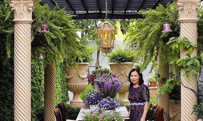 สวนหลังบ้าน ชมพู่ อารยา สวยงามอลังการ นึกว่าอยู่เมืองนอก