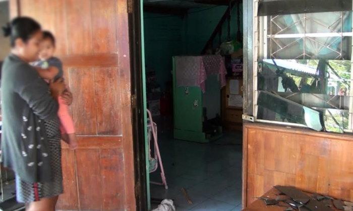 สาวพาครอบครัว 6 ชีวิตหนีตาย อดีตทหารเรือรัวยิงปืน ทุบบ้านพินาศ