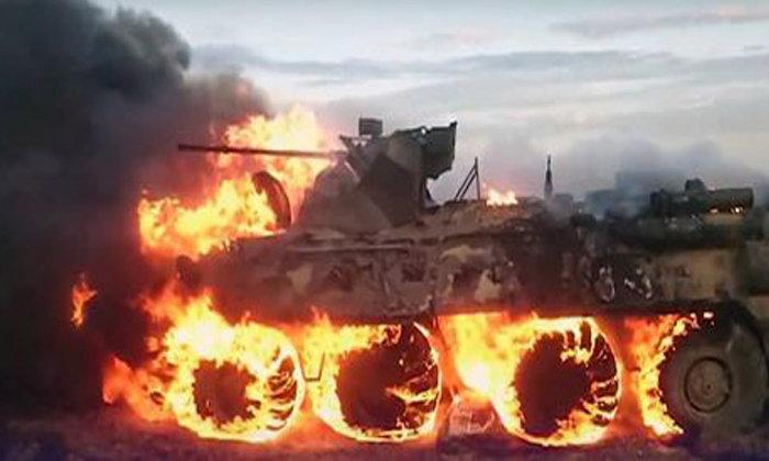 พลทหารรัสเซียจะปรุงอาหาร ไฟลามไปติดรถถังหุ้มเกราะ เสียหาย 16 ล้าน