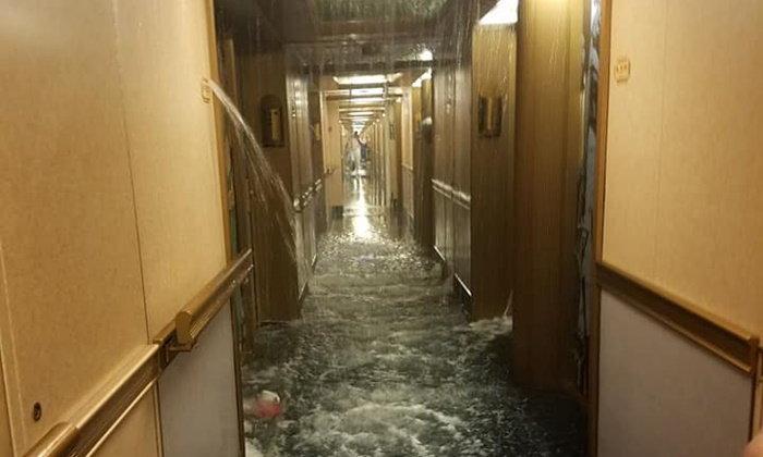 สะพรึงเหมือนไททานิก น้ำรั่วไหลกะทันหัน ท่วมเรือสำราญชื่อดัง