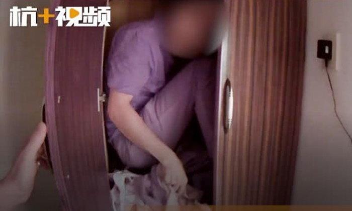 หญิงแจ้งตำรวจ ขโมยขึ้นบ้าน ที่แท้เป็นสามีอู้งาน กลัวเมียรู้เลยซ่อนในตู้เสื้อผ้า