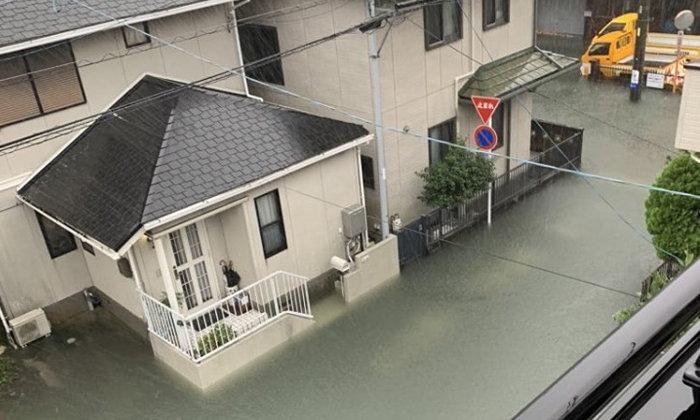 คนไทยทึ่ง! น้ำท่วมถนนที่ญี่ปุ่นหลังเจอพายุไต้ฝุ่นฮากิบิสถล่ม แต่น้ำใสแจ๋ว
