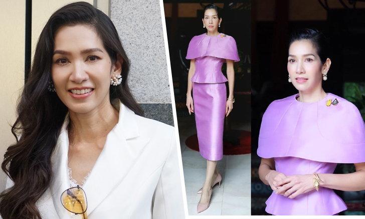 """""""นุสบา"""" เล่าความภูมิใจ ใส่ชุดผ้าไหมไทยต้อนรับแขกบ้านแขกเมือง สวยสะกดทุกสายตา"""