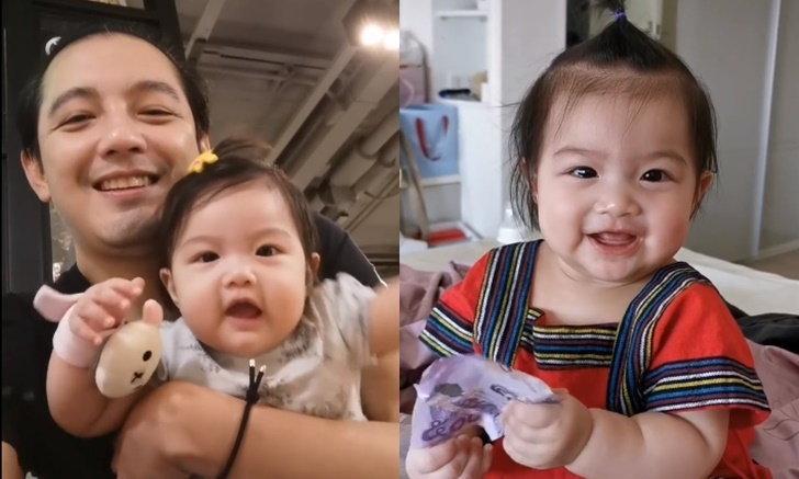 """""""ศรราม"""" อ้อนขอเงิน """"น้องวีจิ"""" ลูกสาวน่ารัก หัวเราะอารมณ์ดีส่งให้พ่อ"""