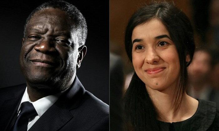 """หมอกายภาพคองโก-นักสิทธิมนุษยชนอิรัก คว้า """"โนเบลสันติภาพ"""" สู้เพื่อเหยื่อทางเพศ"""