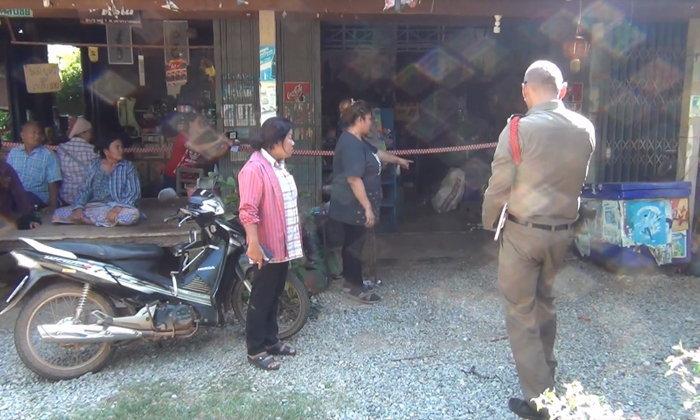 หนุ่มหึงโหด ใช้ปืนลูกซองจ่อยิงเมียดับ วิ่งหนีตายเข้าร้านชำยังไม่รอด