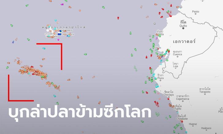 เอกวาดอร์แทบช็อก! เรือประมงจีนกว่า 200 ลำ ข้ามซีกโลก ล่าปลาใกล้เกาะกาลาปากอส