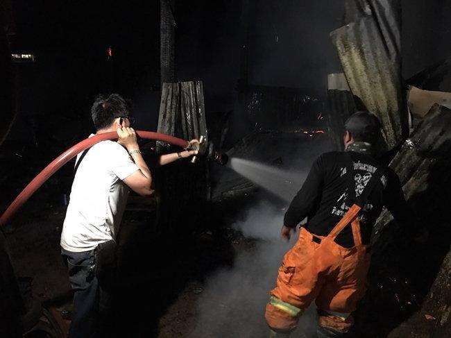 สภาพบ้านที่ถูกไฟไหม้