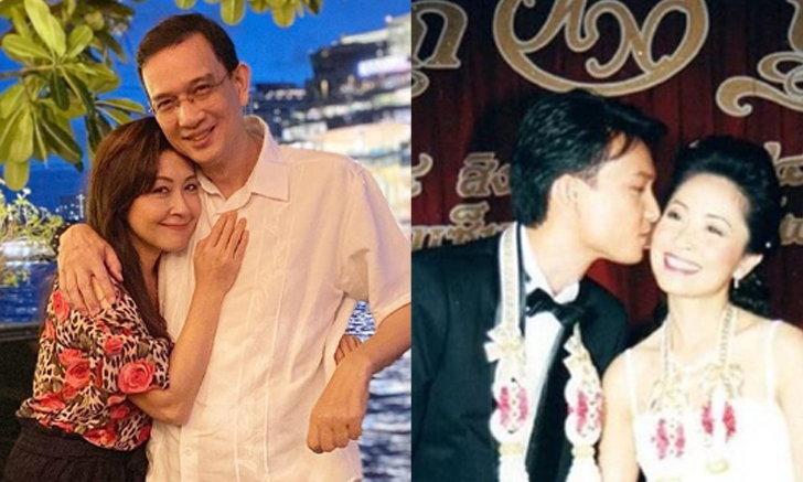 """รักเราไม่เก่าเลย """"กวาง กมลชนก"""" ควง """"น็อต นุติ"""" ฉลองครบรอบแต่งงาน 20 ปี หวาน อบอุ่น"""