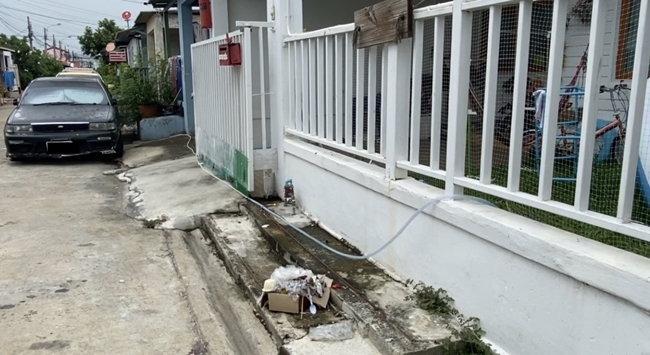 บ้านหลังเกิดเหตุที่ถูกลักลอบใช้น้ำ