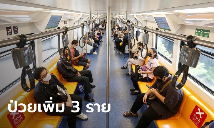 ศบค.เผยไทยพบผู้ติดเชื้อโควิด-19 เพิ่ม 3 ราย รวมป่วยสะสม 3,381 ราย