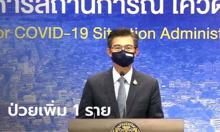 ศบค.แถลงไทยพบผู้ติดเชื้อโควิด-19 เพิ่ม 1 ราย รวมป่วยสะสม 3,390 ราย