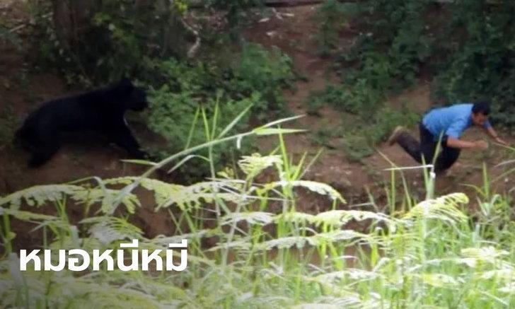 เปิดใจทีมสัตวแพทย์ หวิดถูกหมีควายขย้ำ เล่านาทีกระโดดลงน้ำหนีเอาชีวิตรอด