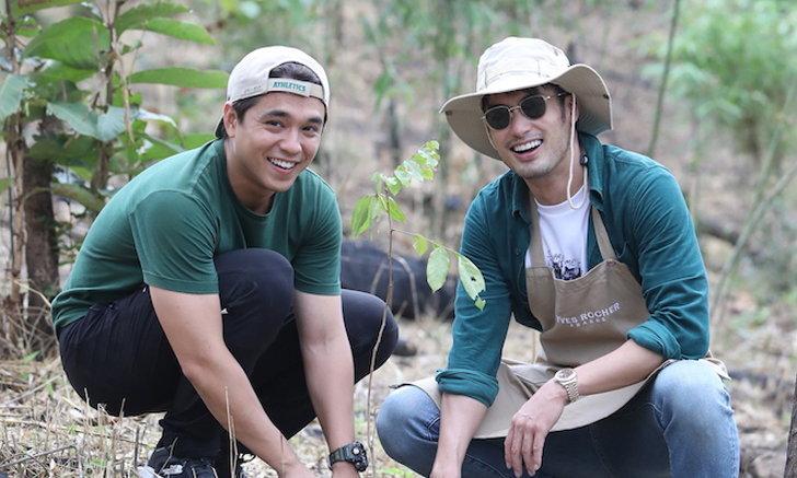 """""""บอย-อเล็กซ์"""" นำทีม ปลูกป่า สร้างจิตสำนึกอนุรักษ์สิ่งแวดล้อม"""