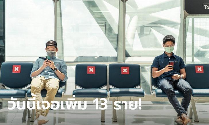 วันนี้พุ่ง 13 คน! ศบค.รายงานผู้ติดเชื้อโควิด-19 รายใหม่ เดินทางมาจาก 8 ประเทศ