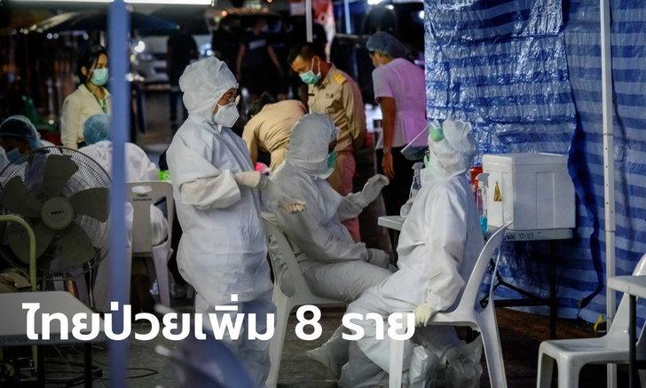 ผู้ป่วยรายใหม่ 8 ราย! ศบค.เผยไทยพบผู้ติดเชื้อโควิด-19 เดินทางมาจาก 6 ประเทศ