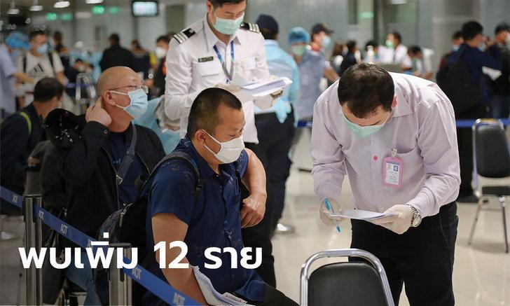วันนี้ 12 ราย! ศบค.เผยผู้ติดเชื้อโควิด-19 รายใหม่ มาจากต่างประเทศ