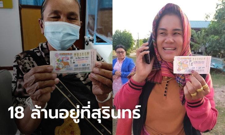 สุรินทร์เมืองคนดวงเฮง หลานให้โชคยายถูกหวย 12 ล้าน ส่วนสาวอีกคนได้ 6 ล้าน | https://tookhuay.com/ เว็บ หวยออนไลน์ ที่ดีที่สุด หวยหุ้น หวยฮานอย หวยลาว